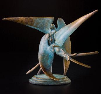 Lunar Spirits Bronze Sculpture 12 in Sculpture - Leo E. Osborne