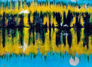 Reflections 44x56 Original Painting by Leo E. Osborne