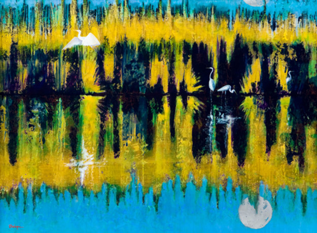 Reflections 44x56 Original Painting by Leo E. Osborne