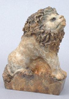 Literary Lion Bronze Sculpture Sculpture - Leo E. Osborne