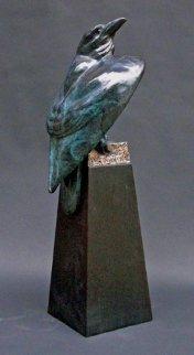 Raven's Cache Bronze Sculpture 24 in Sculpture by Leo E. Osborne