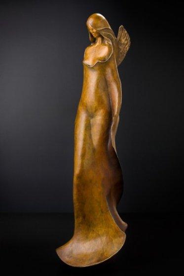 Young Angel Bronze Sculpture 48 in Sculpture by Leo E. Osborne