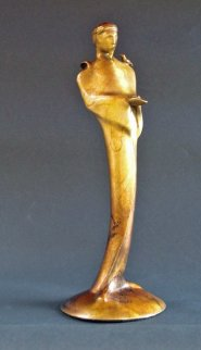 Whistling St. Francis Bronze Sculpture Sculpture - Leo E. Osborne
