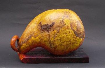 Writhing Unique Wood Sculpture 24 in Sculpture - Leo E. Osborne