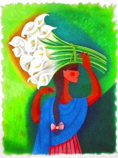 Niña Con Alcatraces 1993 Limited Edition Print - Trinidad Osorio