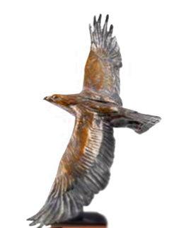 Winged Rapture Bronze Sculpture 1990 28 in Sculpture - Dan Ostermiller