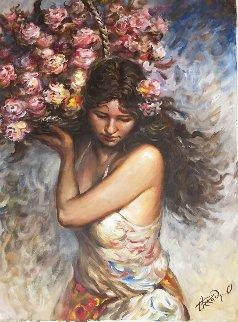 Delicate Balance 31x23 Original Painting - Arkady Ostritsky