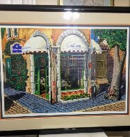 La Couronne Restaurant 2000 Embellished Limited Edition Print by Arkady Ostritsky - 1
