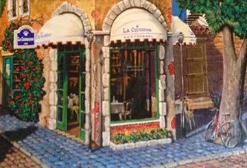 La Couronne Restaurant 2000 Embellished Limited Edition Print - Arkady Ostritsky