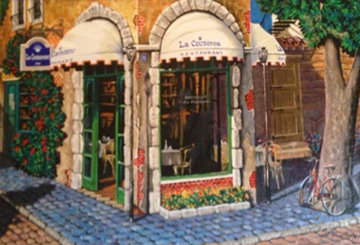 La Couronne Restaurant Embellished 2000 Limited Edition Print by Arkady Ostritsky