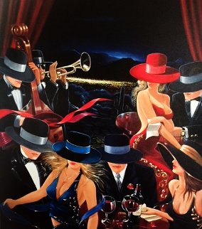 Desert Party 2000 Limited Edition Print by Victor Ostrovsky