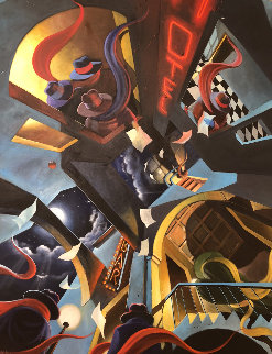 Enigma II 2005 50x62 Original Painting by Victor Ostrovsky