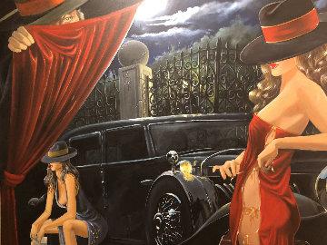 Puppeteer 2003 50x65 Huge Original Painting - Victor Ostrovsky