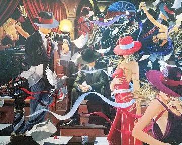 Club 2003 Huge 40x50 Limited Edition Print - Victor Ostrovsky