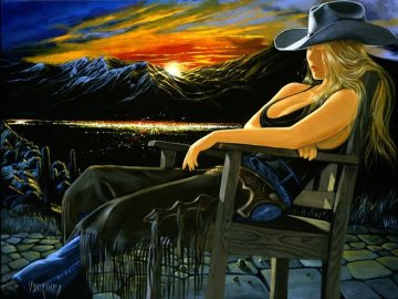 Final Frontier Triptych Print AP 65x88 Huge Limited Edition Print - Victor Ostrovsky