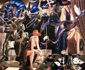 End Game  Triptych 2006 72x90 Super Huge!  Limited Edition Print - Victor Ostrovsky