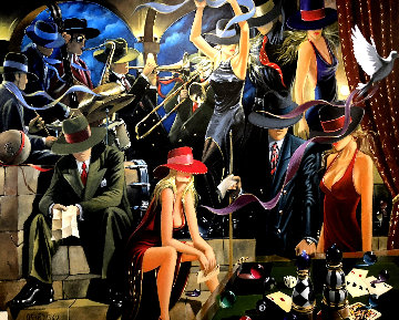 End Game 2006 48x60 Original Painting by Victor Ostrovsky