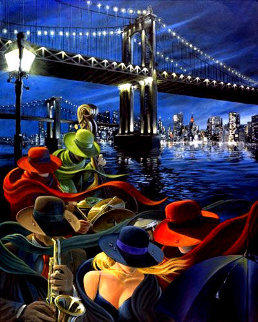 Bait  on Canvas - Super Huge Limited Edition Print - Victor Ostrovsky