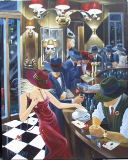 Second Distraction  2002 60x48 Huge Original Painting - Victor Ostrovsky