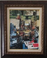Five Card Stud Embellished Limited Edition Print by Victor Ostrovsky - 1