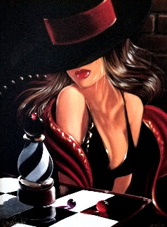 Chess Piece Embellished Limited Edition Print by Victor Ostrovsky