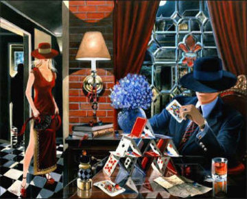 House of Cards 2003 Embellished Limited Edition Print by Victor Ostrovsky