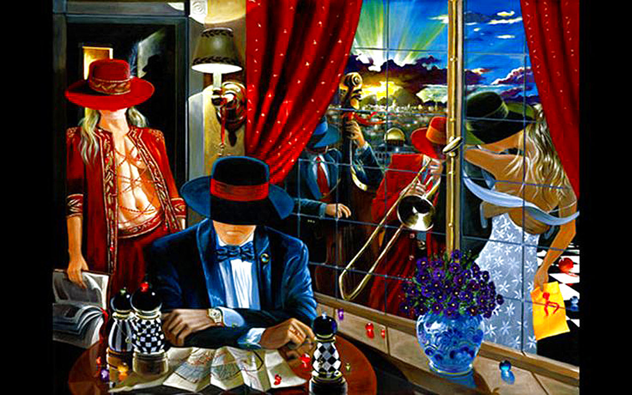 Untitled on Canvas Limited Edition Print by Victor Ostrovsky