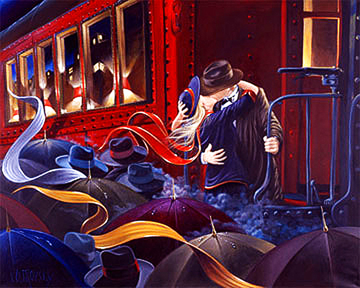 Last Farewell 1990 Limited Edition Print by Victor Ostrovsky