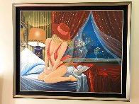 Bird of Paradise 48x60 Huge Original Painting by Victor Ostrovsky - 1