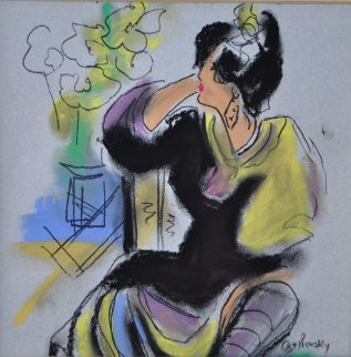 Ting Shao Kuang Serenade Pastel 1995 19x19 Works on Paper (not prints) - Victor Ostrovsky