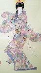Lady Mieko Spring 1988 44x34 Original Painting - Hisashi Otsuka