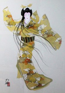 Lady Mieko of Autumn, Pose 2 50x40 Original Painting by Hisashi Otsuka