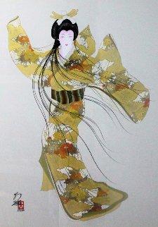 Lady Mieko of Autumn, Pose 2 50x40 Super Huge Original Painting - Hisashi Otsuka