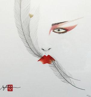 Eyes of Otsuka - Feathers Limited Edition Print by Hisashi Otsuka