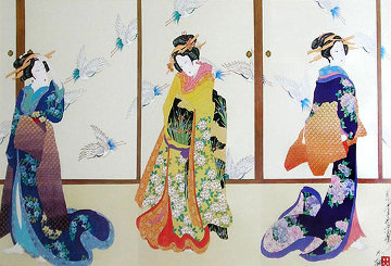 Three Graces of Ukiyo-e Limited Edition Print - Hisashi Otsuka