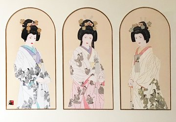 Three Eternal Brides Triptych 1993 Limited Edition Print by Hisashi Otsuka
