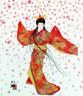 Lady of Floating Blossoms 1999 Limited Edition Print - Hisashi Otsuka