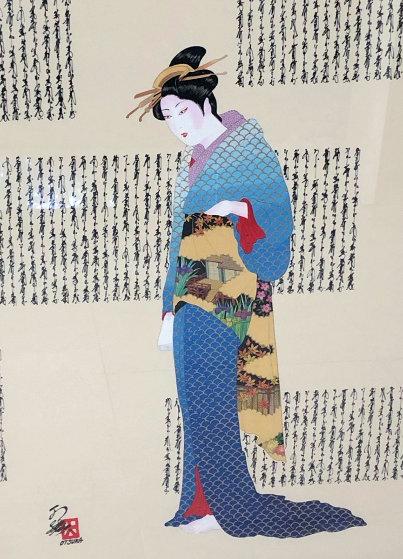 Untitled Painting 43x29 Original Painting by Hisashi Otsuka