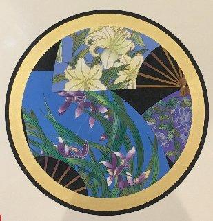 Family Crest 29x37 Original Painting - Hisashi Otsuka