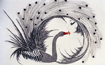 Black Swan 1986 Limited Edition Print - Hisashi Otsuka