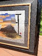 Sunset At Mt. Fuji 34x31 Textile on Wood Rack Original Painting by Hisashi Otsuka - 2