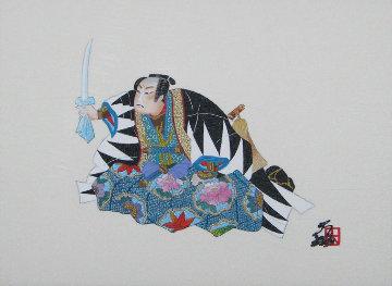 Oishi the General 1991 6x8 Original Painting - Hisashi Otsuka