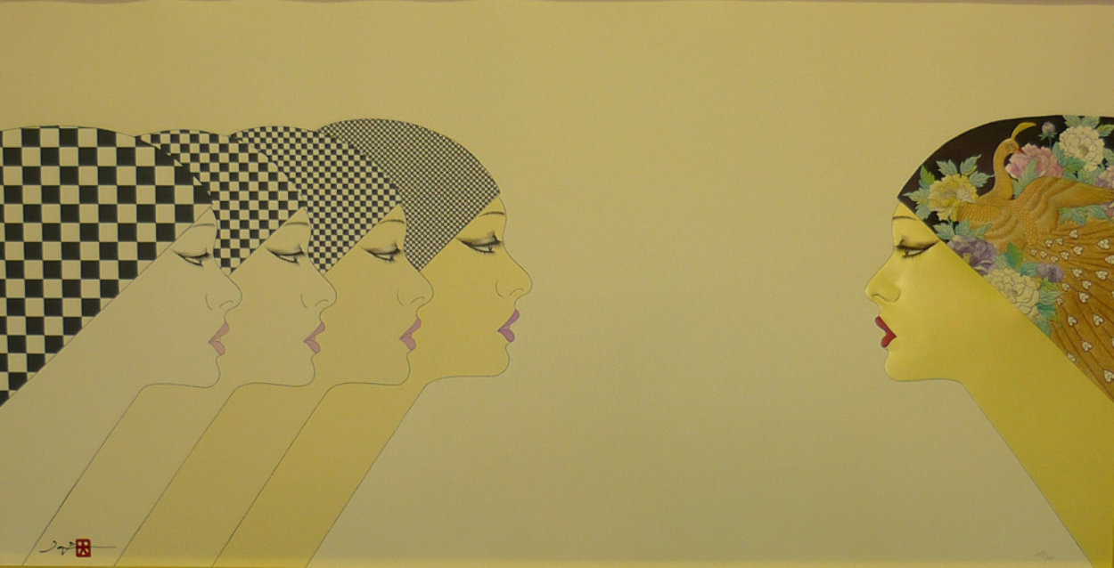 East Meets West 1984 20x38 Super Huge  Limited Edition Print by Hisashi Otsuka