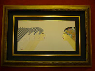 East Meets West 1984 20x38 Super Huge  Limited Edition Print by Hisashi Otsuka - 1