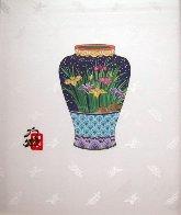 Blue Vase 14x11 Original Painting by Hisashi Otsuka - 1