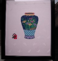 Blue Vase 14x11 Original Painting by Hisashi Otsuka - 3