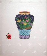 Blue Vase 14x11 Original Painting by Hisashi Otsuka - 2