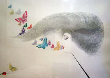 Whispering Butterflies 1988 Limited Edition Print by Hisashi Otsuka