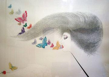 Whispering Butterflies 1988 Limited Edition Print - Hisashi Otsuka