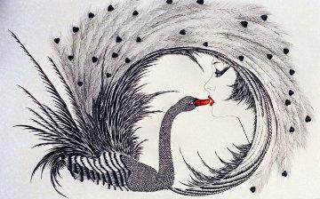 Kiss of the Black Swan 1986 Limited Edition Print - Hisashi Otsuka